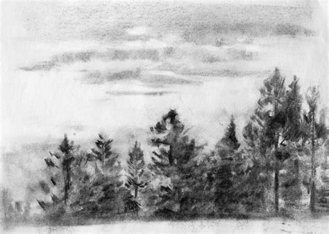 Landscape Sketches The Loop Charcoal Drawing A Logical Method