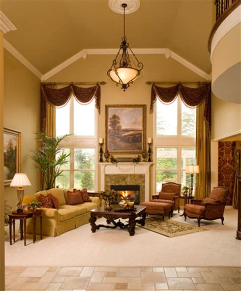 Two Story Living Room Curtains by Dazzling Designs Llc Michigan Design Center