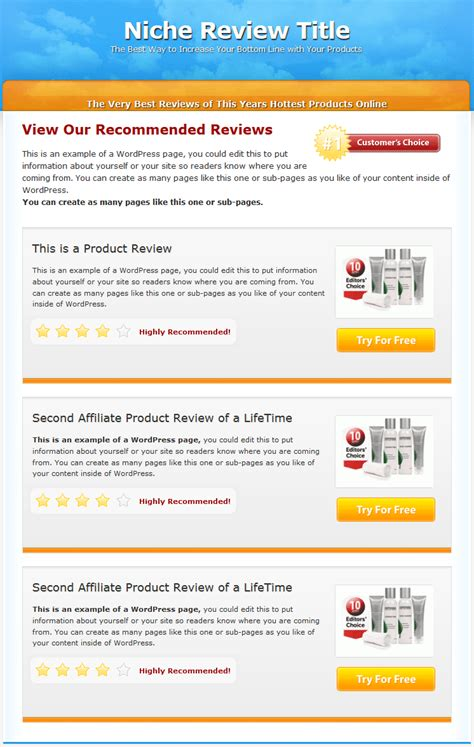 blogger product review template gallery templates design