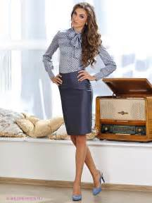 gray pencil skirt gray and silver blouse and gray high