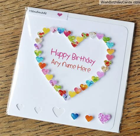 How To Make Creative Birthday Cards At Home Beautiful Handmade Heart Birthday Card For Sister