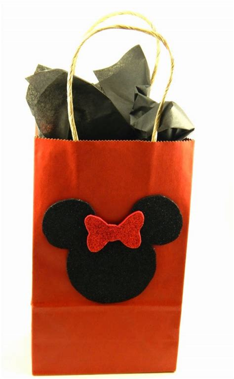 diy mickey  minnie mouse gift bags  ole mom