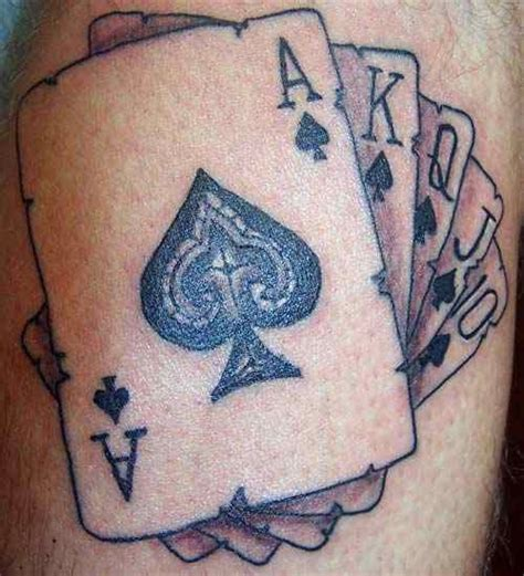 royal flush tattoo designs a royal flush on the arm tattoos