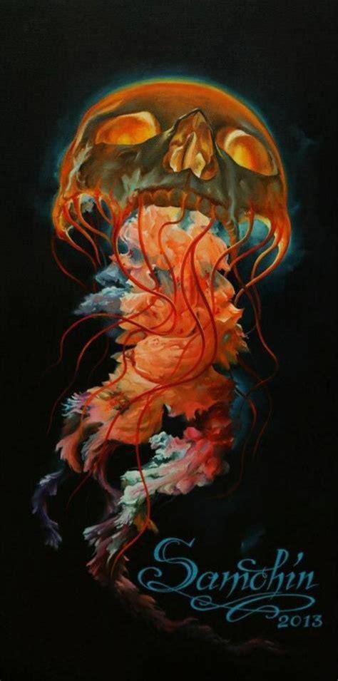 3d Vorlagen 4100 by Skull Jellyfish Skulls Sch 228