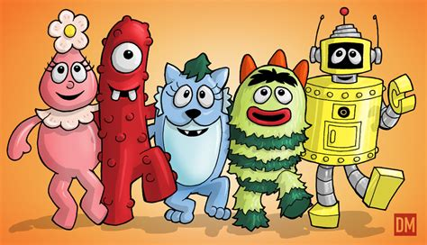 black on yo gabba gabba yo gabba gabba by danielmead on deviantart