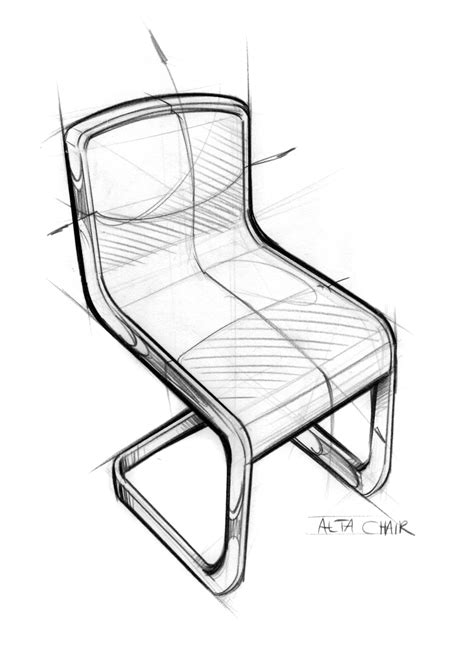 Pencil Sketches Of Chairs Sketch by Notes From The Atelier Alta Chair Sketch