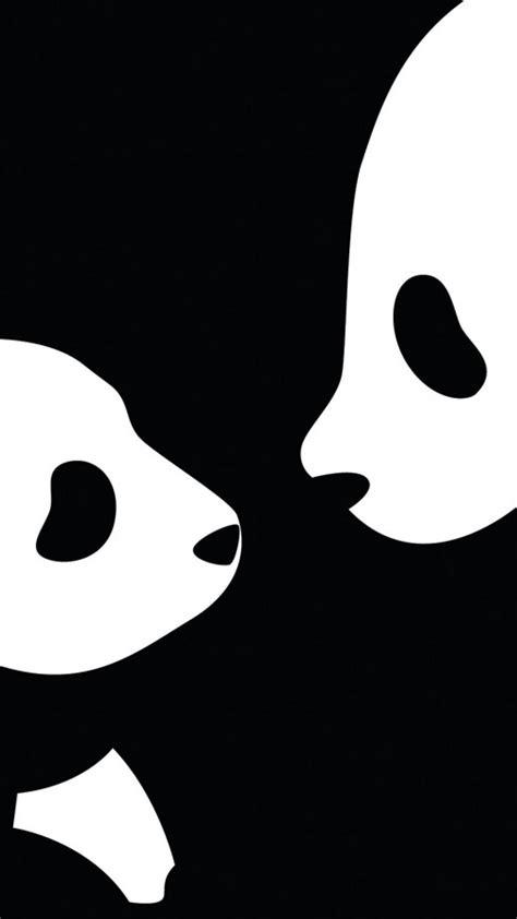 wallpaper black and white panda black and white panda iphone wallpaper 2018 iphone