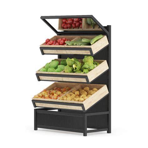 Shelf Vegetable by Market Shelf Vegetables 3d Model Max Obj Fbx C4d Ma Mb Mtl