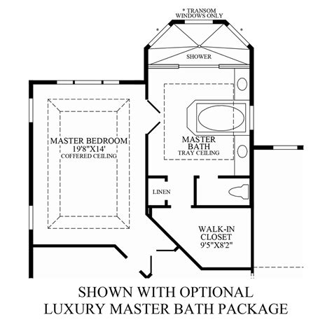 master bath floor plan except i see no need for his her optional luxurious master bath package floor plan