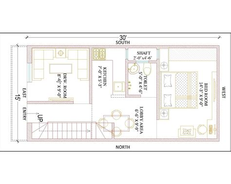 house design 15 30 feet best 15 x 30 ground floor plan gharexpert images