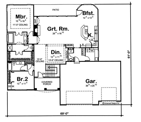 100 two story master suite 100 one story floor country european home with 2 bedrooms 2173 sq ft