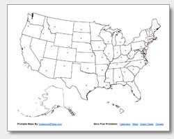 unlabeled us map quiz printable united states maps outline and capitals