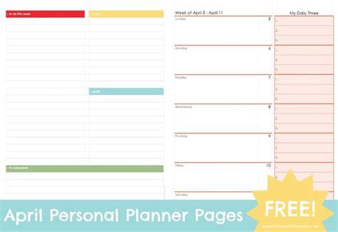 free printable personal planner pages 2015 april personal planner pages free printable