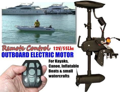 electric boat motor with battery remote controlled 55lbs 12v electric trolling motor