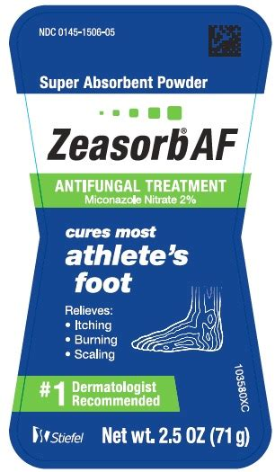Pdf Zeasorb Af Powder Ingredients by Dailymed Zeasorb Miconazole Nitrate Powder