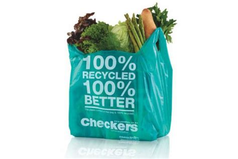 Checkers Bag shoprite holdings checkers introduces 100 recycled