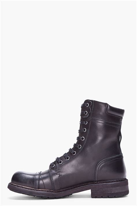 diesel black cassidy boots in black for lyst