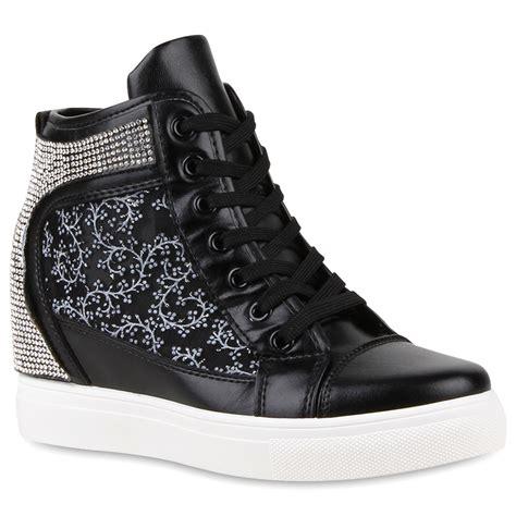 Sneakers Wedges 35 damen sneakers sneaker wedges keilabsatz 99176