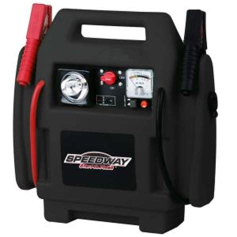 speedway emergency car jump starter and compressor with