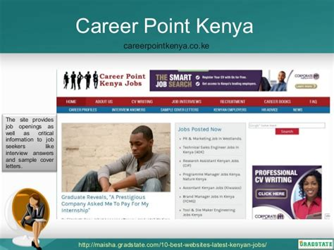 Sle Cover Letter Career Point Kenya a list of top websites