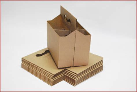 Custom Corrugated Packing Boxes Online Printroo Australia Beverage Carrier Template