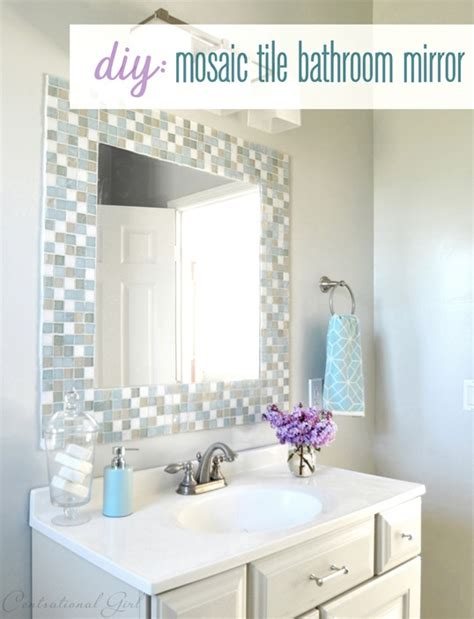 diy bathroom mirror frame ideas diy mosaic tile bathroom mirror centsational
