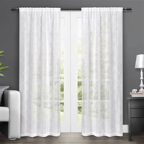 amazon window drapes amazon com exclusive home salzburg embroidered semi sheer