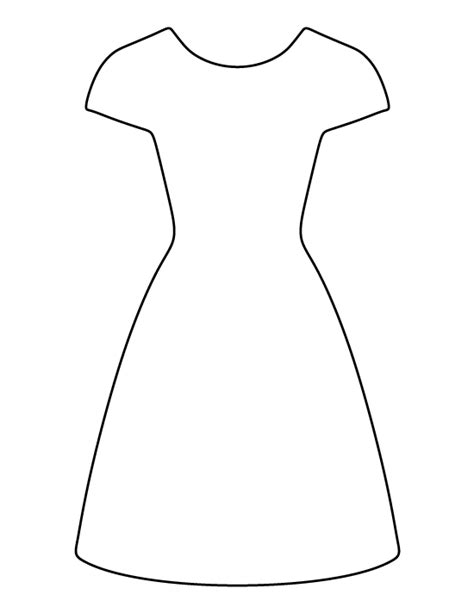 dress template dress pattern use the printable outline for crafts