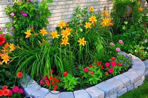 Easy Flower Garden Ideas Easy Front Yard Flower Beds Small Front Yard Landscape Design With Colorful Flower Garden