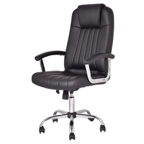 high desk office chair ergonomic pu leather high back executive computer desk