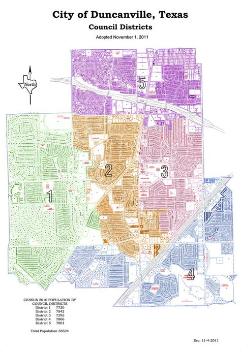 map city of city districts city of duncanville usa