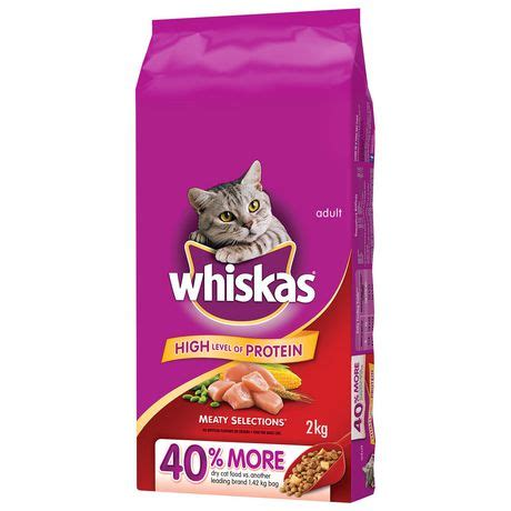 Catfood 2 4kg whiskas meaty selections with real chicken cat food
