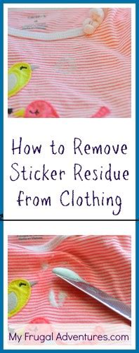 How Do You Get Sticker Residue Clothes