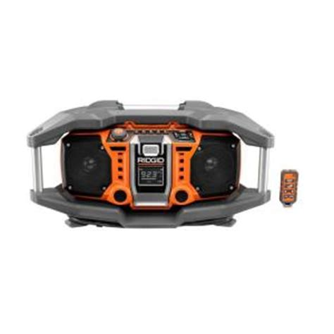 Home Depot Radio ridgid tools and hardware products tbook
