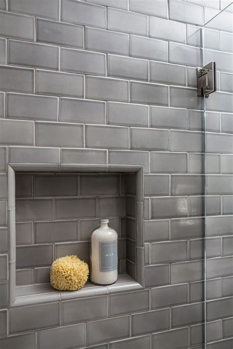 Subway Plumb Reno Nv by Bathroom Reno With Grey Subway Tile