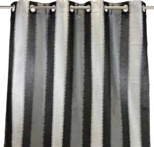 metallica rideau 224 蜩illets 140x250cm brillant noir gris