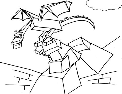 coloring pages of ender dragon minecraft ender dragon coloring pages sketch coloring page