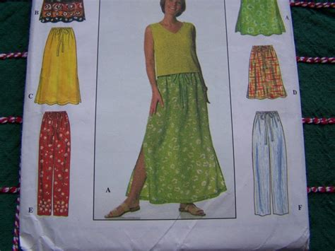 pattern simple elastic waist skirt simplicity sewing pattern 6 made easy skirts pants xs s