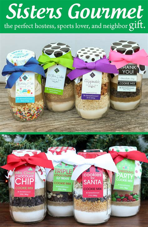 six sisters neighbor gifts gourmet cookie mixes the hostess and sports lover gift