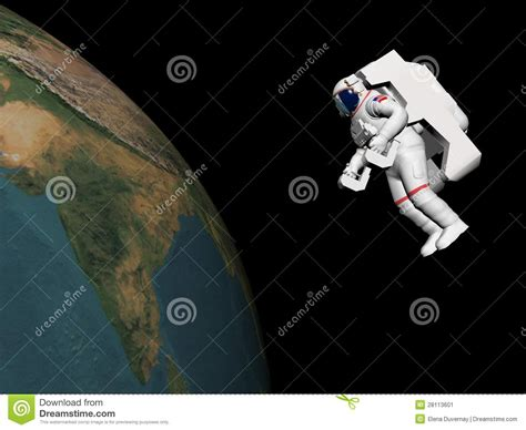 astronaut    earth  render stock image image