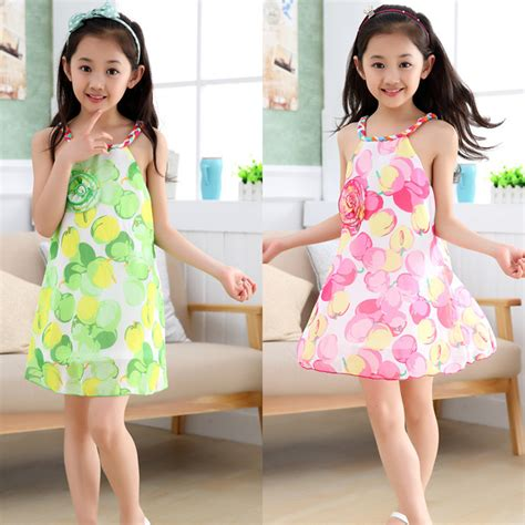 Floral Dress Santai Pink halter dress chiffon dresses summer floral sleeveless princess dresses with flower