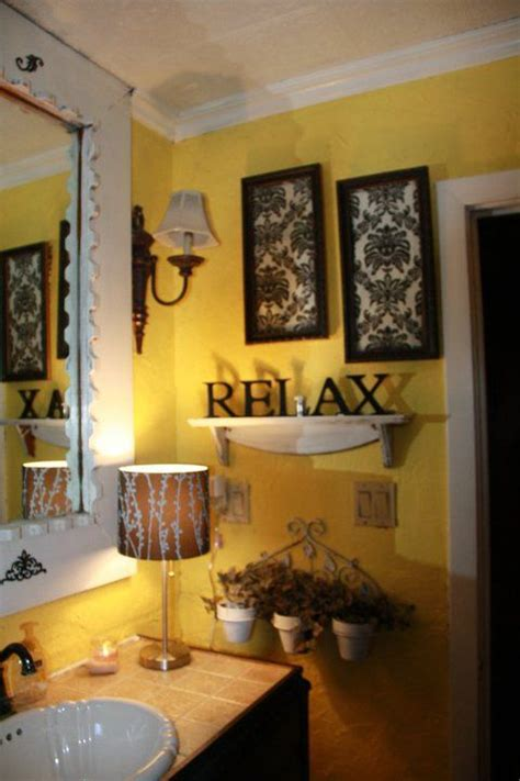 black and yellow bathroom home decor