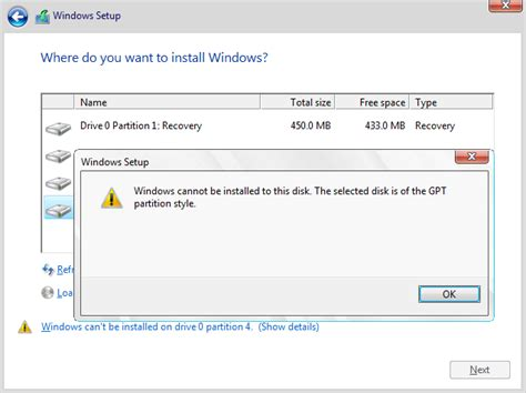install windows 10 uefi usb cant install windows 10 because of gpt partition error
