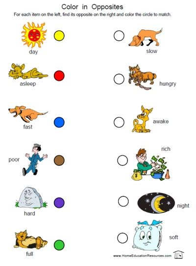 printable worksheets opposites kindergarten free coloring pages of heavy opposite light