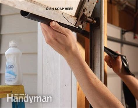 Fixing Garage Doors The Family Handyman How To Install Garage Door Bottom Seal