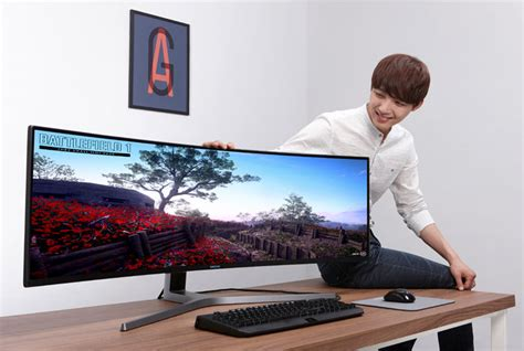 samsung teases its 49 inch 32 9 gaming display