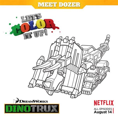 dino truck coloring page color it up download print and color dozer from