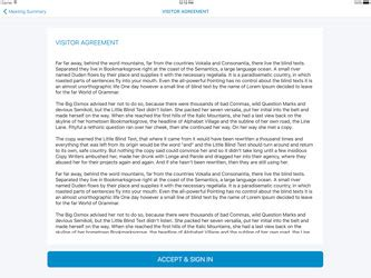 app design non disclosure agreement online visitor registration lobby track web based