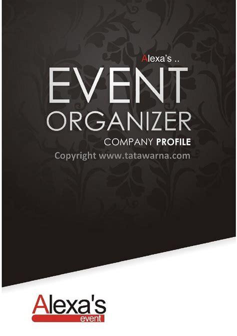 contoh desain company profile perusahaan event organizer