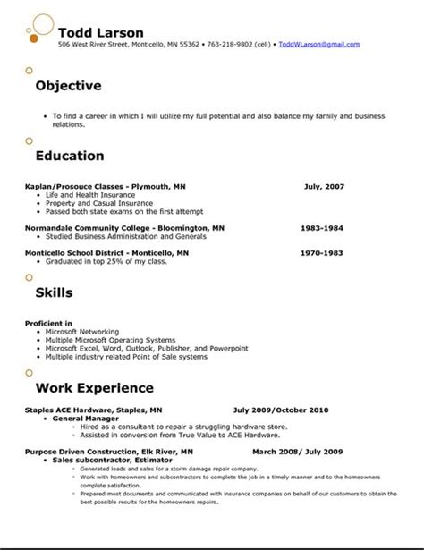 Examples Of Effective Resumes by Catchy Objectives For Resumes Free Resume Templates